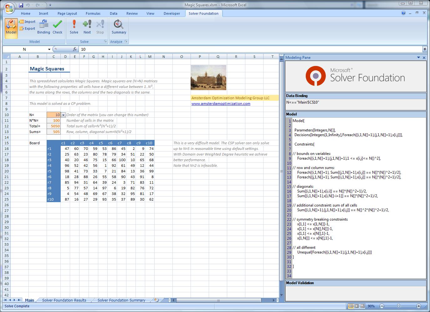 Microsoft Solver Foundation